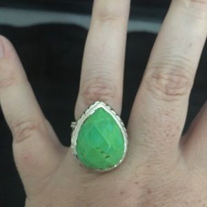 Barse Green Turquoise ring size 8 chunky
